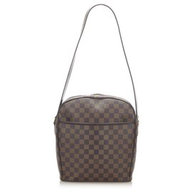 Louis Vuitton-Louis Vuitton Brown Damier Ebene Ipanema GM-Brown