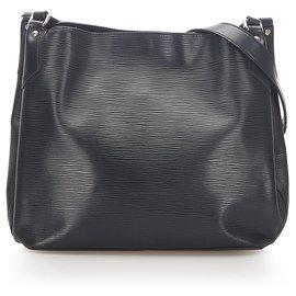 Louis Vuitton-Louis Vuitton Black Epi Mandara MM-Black