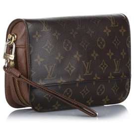 Louis Vuitton-Louis Vuitton Brown Monogram Orsay-Brown
