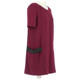 The Kooples-robe-Dark red