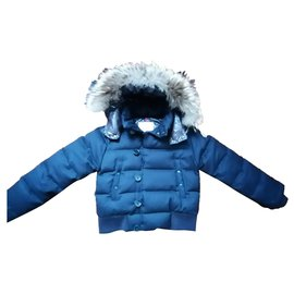 Moncler-Fur hood-Navy blue