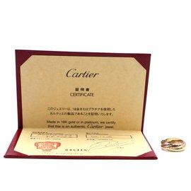 Cartier-cartier 18K 750 Taille de bague tricolore Trinity 55-Multicolore