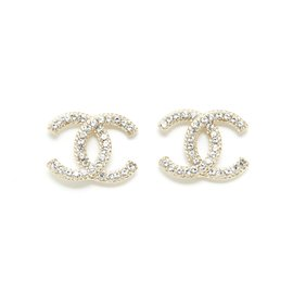 Chanel-GOLDEN CC STUDS L BRAID EDGES-Golden