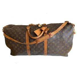 Louis Vuitton-keepall 60 Shoulder bag-Dark brown