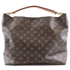 Louis Vuitton-Louis Vuitton Sully MM Monogram Canvas-Brown