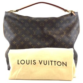 Louis Vuitton-Louis Vuitton Sully MM Monogram Canvas-Brown
