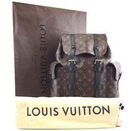Louis Vuitton-Louis Vuitton Christopher PM Monogram Macassar Canvas-Brown