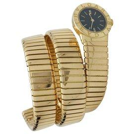 "Bulgari-Bulgari vintage watch ""Serpent"" model in yellow gold.-Other"