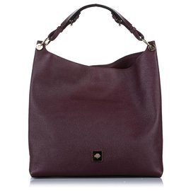 Mulberry-Mulberry Red Freya Leather Handbag-Red,Dark red