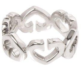 Cartier-Bague Coeur C de Cartier Diamant Argent Cartier-Argenté