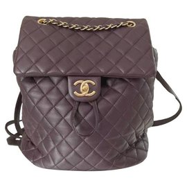 Chanel-CHANEL Urban Spirit Burgundy Large Backpack-Brown