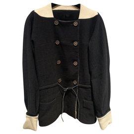 Chanel-Jackets-Black,Cream
