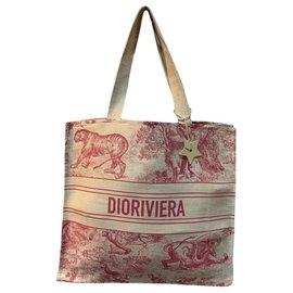 Dior-SAC DIOR BOOK RIVIERA NOUVEAU 599€-Rouge,Beige