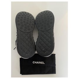 Chanel-Chanel Sneakers-Black,White