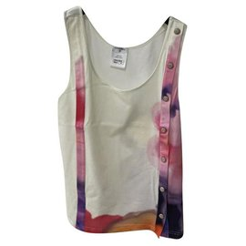 Chanel-Chanel SS 2015 Multicoloured Tank Top Sz 36-Multiple colors