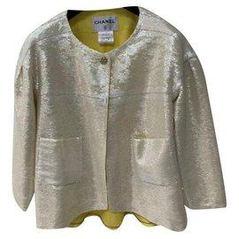 Chanel-Chanel Resort 2012 Sequins Jacket Sz.38-Golden
