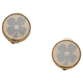 Chanel-Chanel Brown Camellia Clip-on Earrings-Brown,Black,Bronze