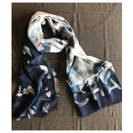 Chanel-Chanel stole-Navy blue
