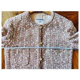 Chanel-Iconique veste en tweed Chanel-Multicolore,Blanc cassé
