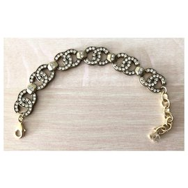 Chanel-Chanel Strass Bracelet - Collection 2021-Golden