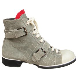 Chanel-Chanel p boots 40-Grey