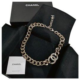 Chanel-Vintage Chanel gold choker necklace-Gold hardware