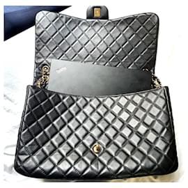 Chanel-Chanel Timeless Classic XXL flap bag GHW-Black