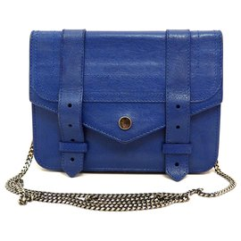 Proenza Schouler-PS1 Wallet on Chain Crossbody Shoulder Bag in Royal Blue-Blue