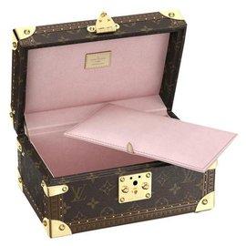 Louis Vuitton-LV Coffret tresor 24-Rose