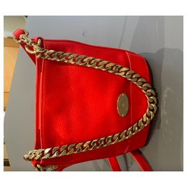 Mulberry-Mulberry Red Leather Shoulder Bag-Red