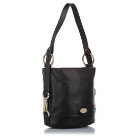 Mulberry-Mulberry Black Leather Bucket Bag-Black