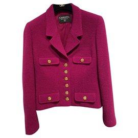 Chanel-Jackets-Fuschia