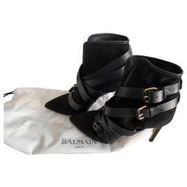 Balmain-Ankle Boots-Black