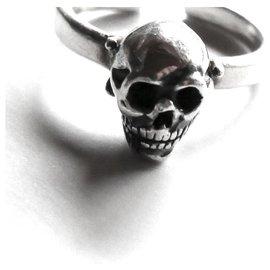 Delfina Delettrez-Skull Set Ring-Silvery