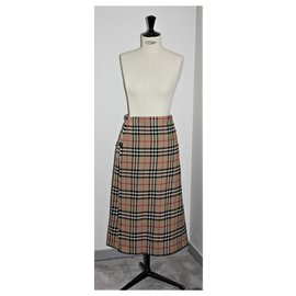 "Burberry-Burberry ""VINTAGE"" Check Tartan Kilt Skirt-Other"