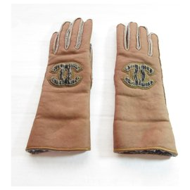 Chanel-Chanel Gloves-Brown