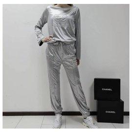 Chanel-Chanel Logo Sport Suit Sz.36-Silvery