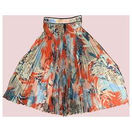Leonard-Maxi skirt-Orange