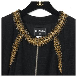 Chanel-Coats, Outerwear-Black