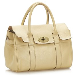 Mulberry-Mulberry Brown Bayswater Leather Handbag-Brown,Beige