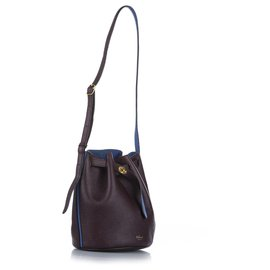 Mulberry-Mulberry Brown Abbey Leather Bucket Bag-Brown