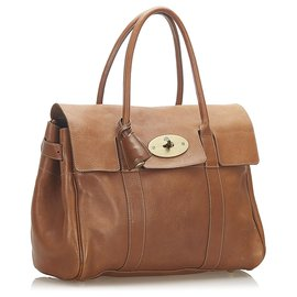 Mulberry-Mulberry Brown Bayswater Leather Handbag-Brown
