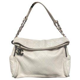 Chanel-Handbags-White,Silver hardware