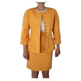 Chanel-Skirt suit-Orange