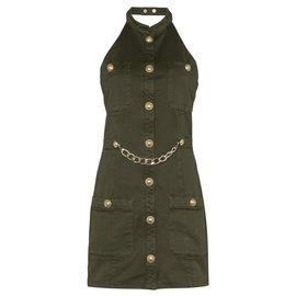 Balmain-Dresses-Khaki
