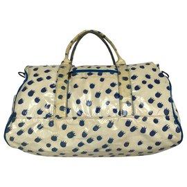 Tsumori Chisato-Tsumori Chisato Boston Bag-Cream,Navy blue