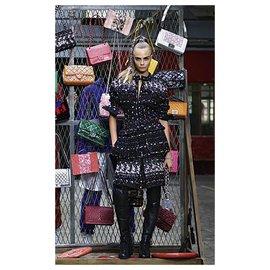 Chanel-12K$ Cara Delevingne tweed coat-Multiple colors