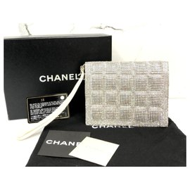 Chanel-Chanel diamanté evening clutch bag-Silvery