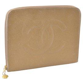 Chanel-Chanel clutch bag-Beige