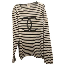 Chanel-Iconic Chanel sailor shirt-Navy blue
